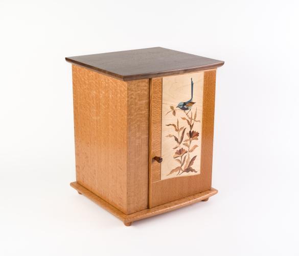 Blue Wren Silky Oak Cabinet